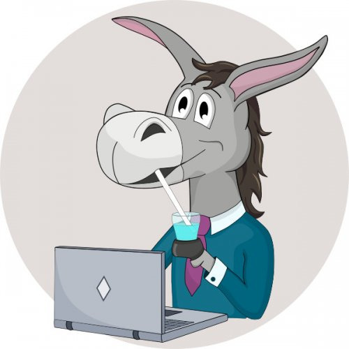 Donkey: Custom Character Design Vector Image