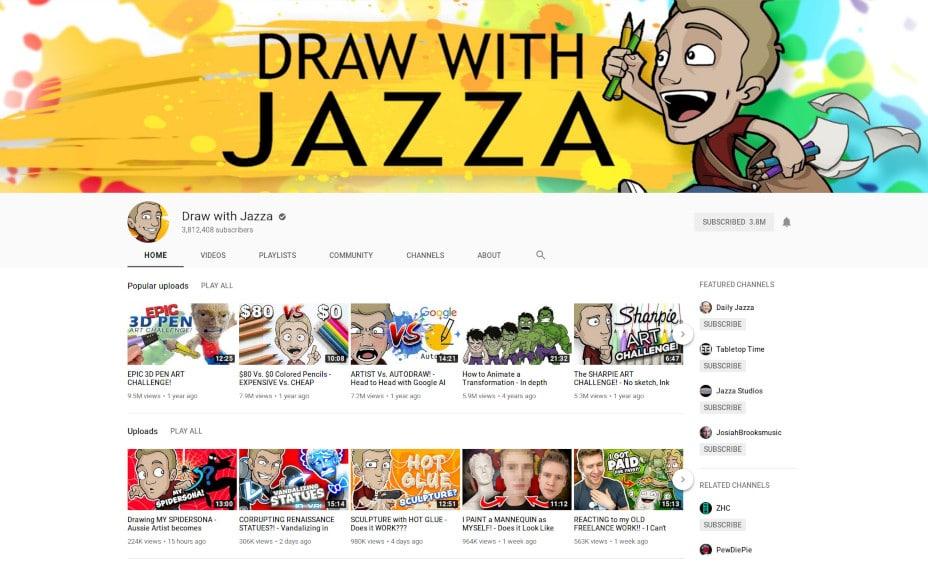 Jazza's avatar, Draw with Jazza