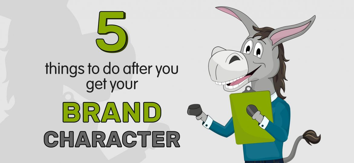 donkey mascot, how to use brand character